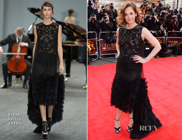 Ruth Wilson In Erdem - Laurence Olivier Awards 2014