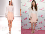 Sara Bareilles In J. Mendel - The Breast Cancer Foundation's 2014 Hot Pink Party