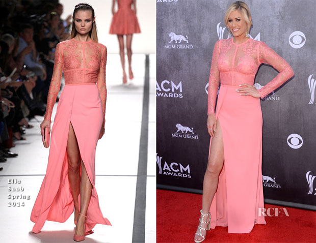 Sarah Davidson In Elie Saab - ACM Awards 2014