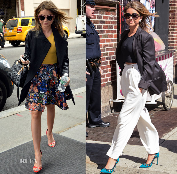 Sarah Hyland In Alice + Olivia & Jenni Kayne - The View & Late Show With David Letterman