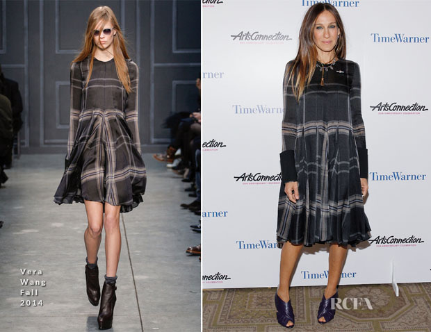 Sarah Jessica Parker In Vera Wang - ArtsConnection 35th Anniversary Spring Benefit