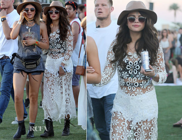 Selena Gomez In Free People - Coachella 2014 Music Festival