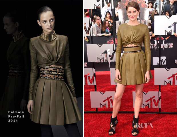 Shailene Woodley In Balmain - MTV Movie Awards 2014