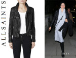 Shailene Woodley's All Saints 'Steine' Leather Biker Jacket