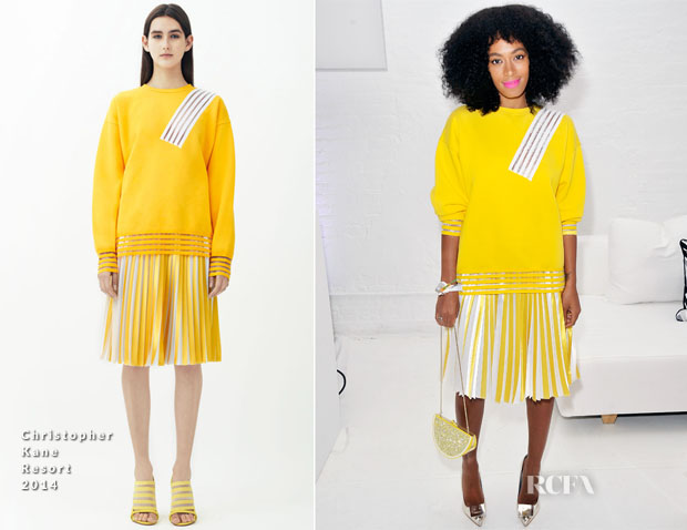 Solange Knowles In Christopher Kane - Q&Q Launch Event