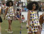 Solange Knowles In Kate Spade Saturday - Coachella Music Festival 2014