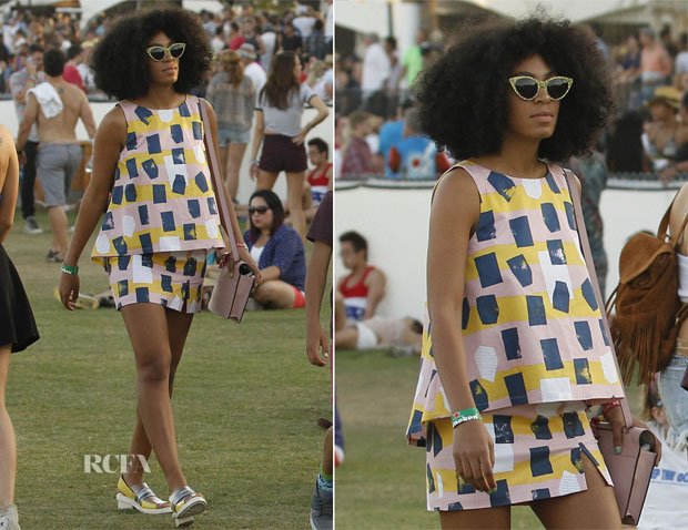 Solange Knowles In Kate Spade Saturday - Coachella Music Festival 2014