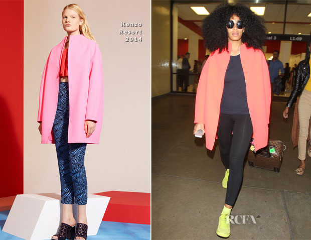Solange Knowles In Kenzo - LAX Airport