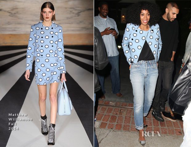 Solange Knowles In Matthew Williamson - Levi's Annual House Party
