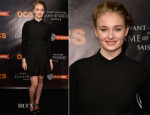 Sophie Turner In Mauro Grifoni - 'Game of Thrones' Season 4 Paris Premiere