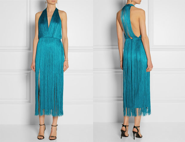 Tamara Mellon Fringe Dress