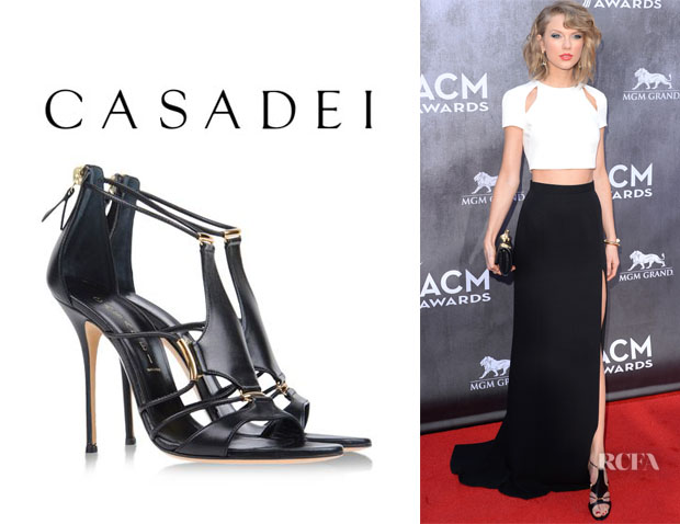 Taylor Swift's Casadei 'Trikini' Sandals