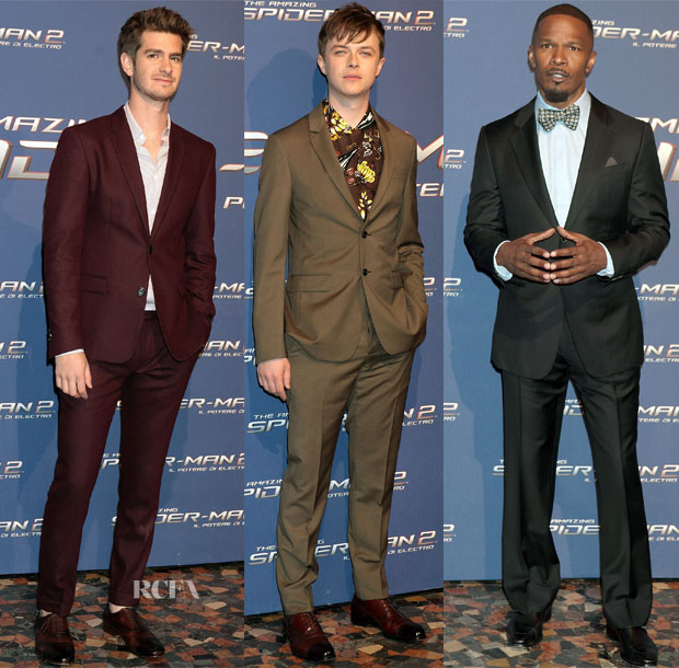 'The Amazing Spider-Man 2 Rise Of Electro' Rome Premiere Menswear Roundup