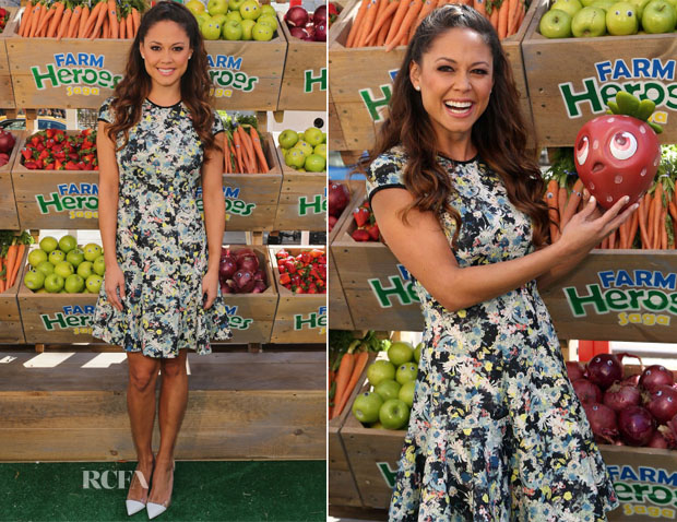 Vanessa Lachey In Erdem - #BeAFarmHero Urban Farming Pop-Up Event