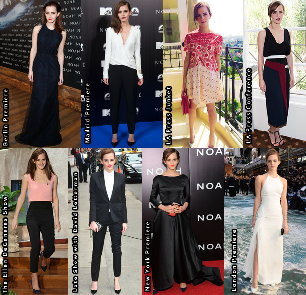 Which Was Your Favourite Emma Watson 'Noah' Promo Tour Look