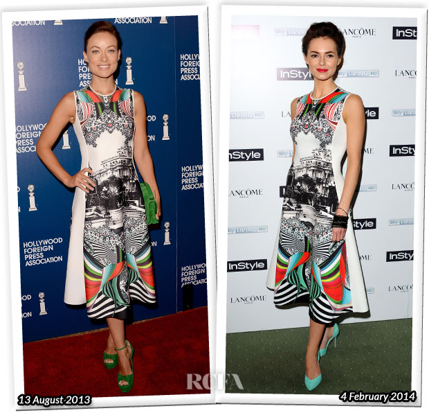 Who Wore Clover Canyon Better Olivia Wilde or Kara Tointon