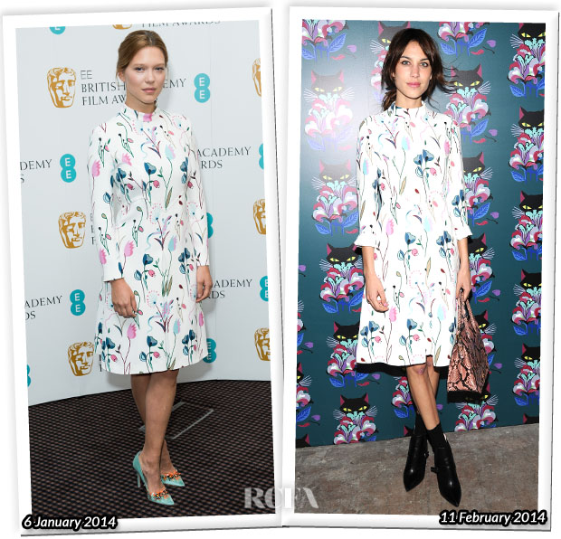 Who Wore Miu Miu Better Lea Seydoux or Alexa Chung