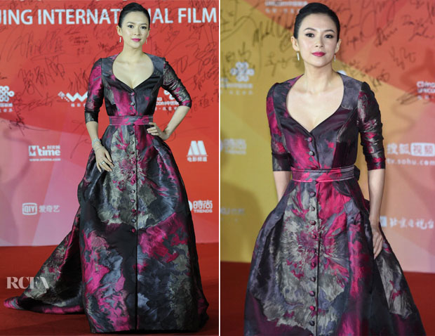 Zhang Ziyi In Carolina Herrera - 2014 Beijing International Film Festival Closing Ceremony
