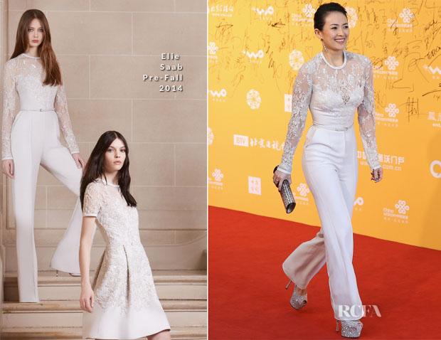 657e8a8ec0f Zhang Ziyi In Elie Saab - 4th Beijing Film Festival - Red Carpet ...