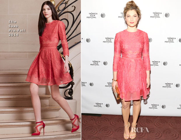 Zoe Levin In Elie Saab - 'Beneath the Harvest Sky' Tribeca Film Festival Premiere