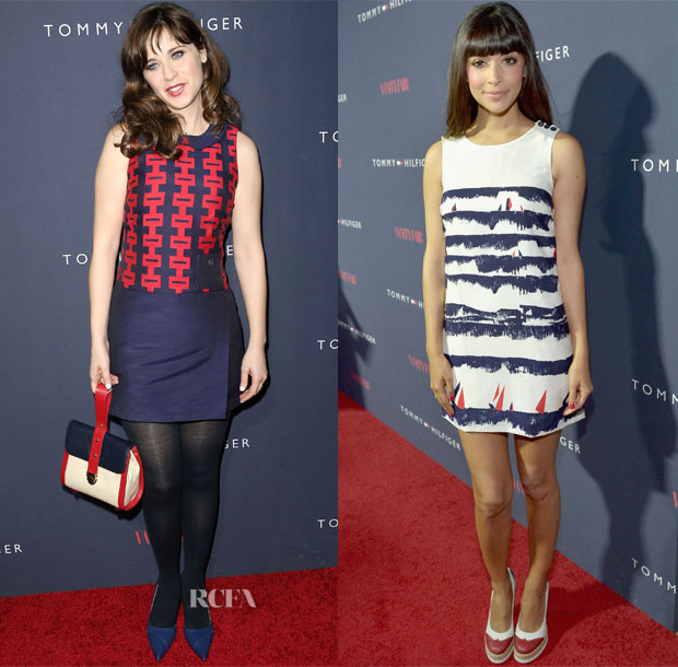 5d134a32c613 Zooey Deschanel for Tommy Hilfiger Collection Launch Event - Red ...