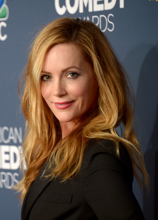 Leslie Mann in Saint Laurent