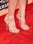 Ashley's Jimmy Choo 'Sling' caged sandals