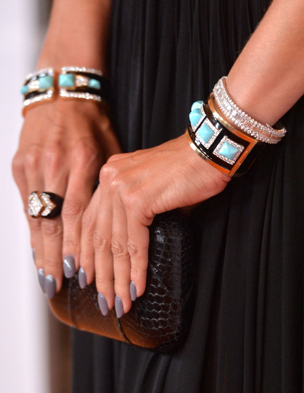 Alessandra Ambrosio's clutch and jewels
