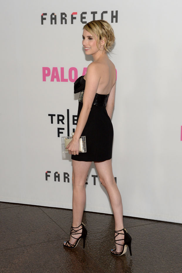 Emma Roberts in Saint Laurent