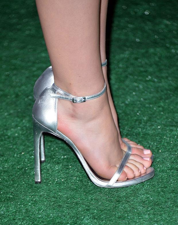 Kiernan Shipka's Stuart Weitzman heels