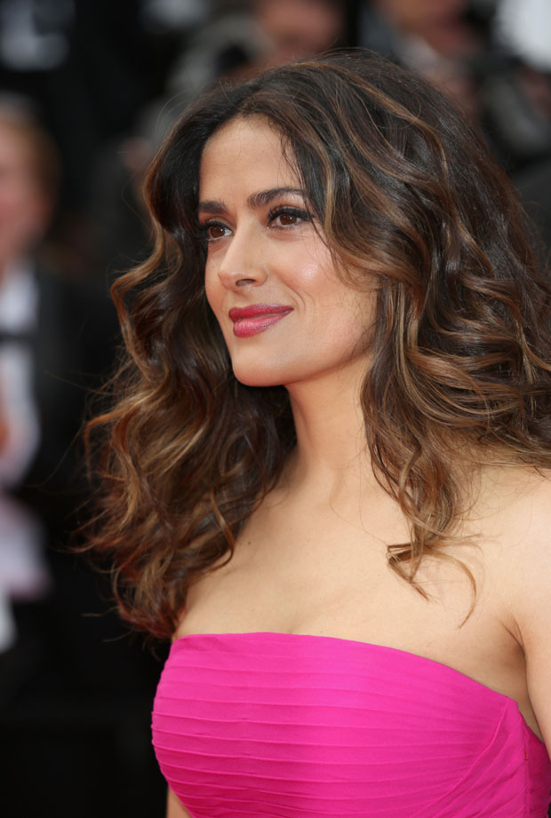 Salma Hayek in Saint Laurent