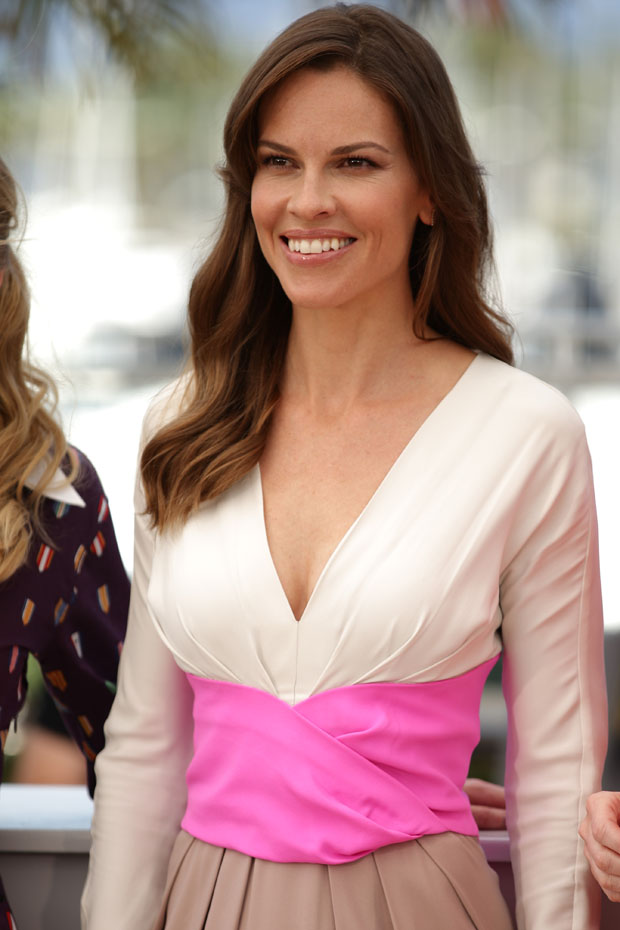 Hilary Swank in Bottega Veneta