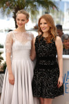 Jess Weixler in Honor and Jessica Chastain in Alexander McQueen