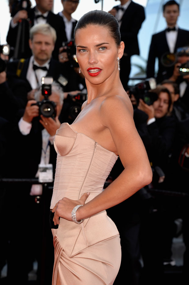 Adriana Lima in Alexandre Vauthier Couture