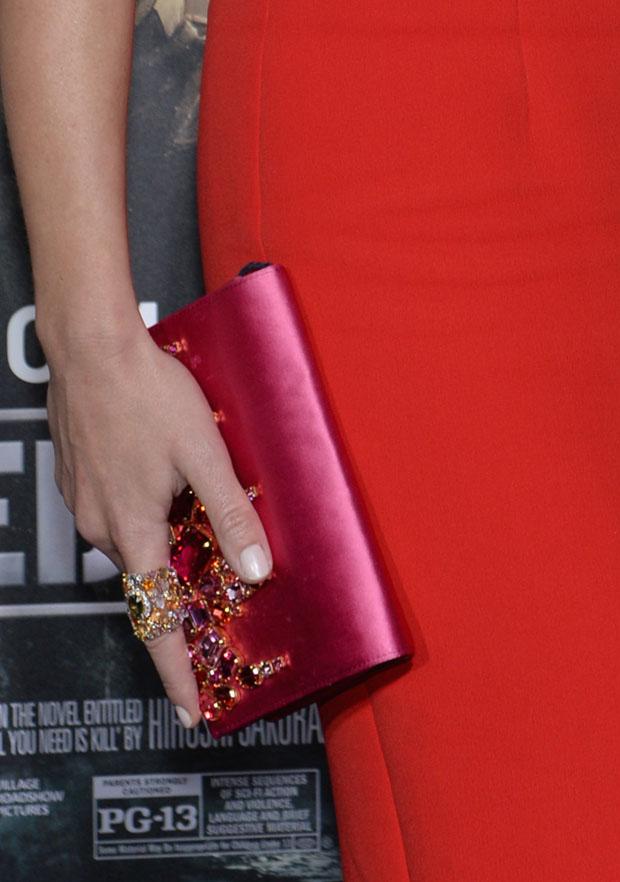 Emily Blunt's Prada clutch