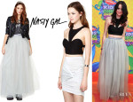 Acacia Brinley's Nasty Gal 'Dream Vision' Skirt And Nasty Gal 'Electra' Bustier