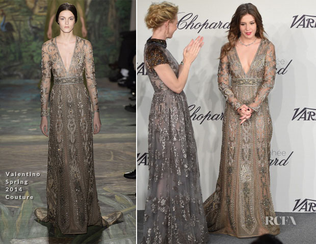 Adele Exarchopoulos In Valentino Couture - Trophée Chopard - Red ...