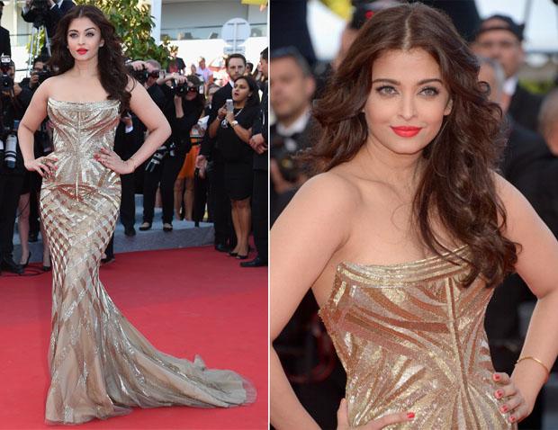 Aishwarya Rai In Roberto Cavalli - 'Deux Jours, Une Nuit' Cannes Film Festival Premiere