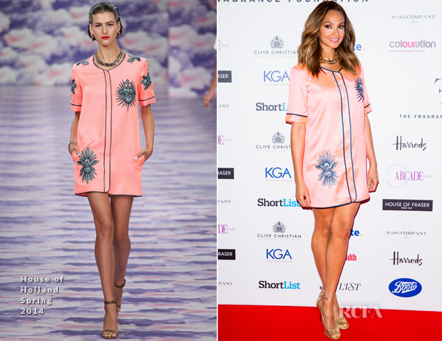 Alesha Dixon In House of Holland - FiFi UK Fragrance Awards