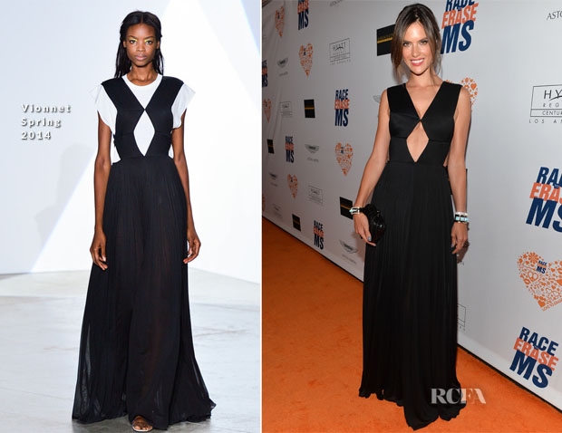 Alessandra Ambrosio In Vionnet - 21st Annual Race To Erase MS Gala