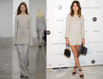 Alexa Chung In Calvin Klein - FIT's The Future Of Fashion Runway Show