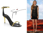 Amanda Seyfried's Giuseppe Zanotti Metallic Leather Sandals