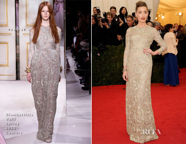 Amber Heard In Giambattista Valli Couture - 2014 Met Gala