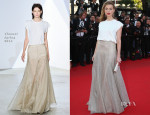 Amber Heard In Vionnet - 'Two Days, One Night'  ('Deux Jours, Une Nuit') Cannes Film Festival Premiere