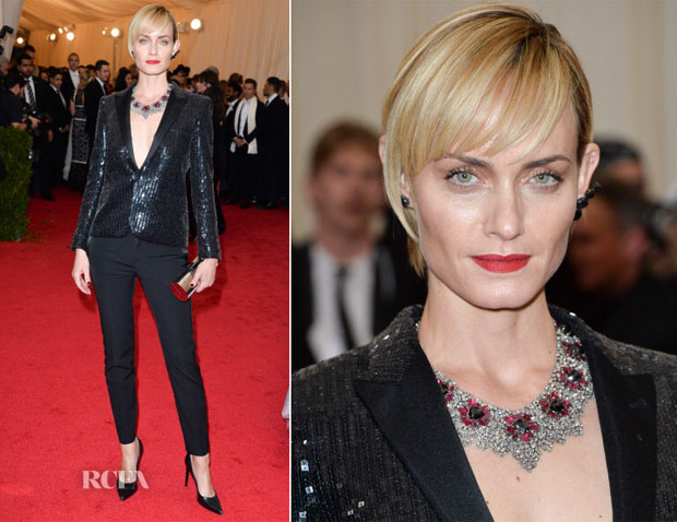 Amber Valletta In Saint Laurent - 2014 Met Gala