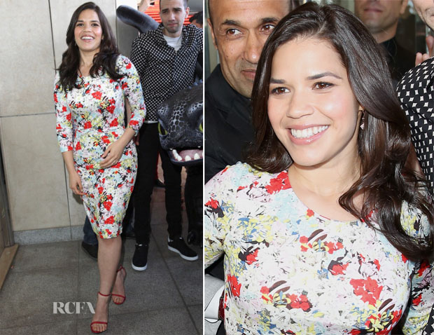America Ferrera In Erdem - 'How To Train Your Dragon 2' Cannes Film Festival Photocall
