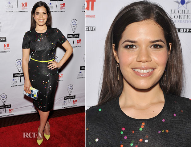 America Ferrera In Givenchy - 29th Annual Lucille Lortel Awards