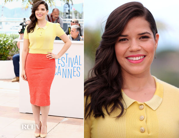 America Ferrera In Louis Vuitton & Missoni - 'How To Train Your Dragon 2′ Cannes Film Festival Photocall