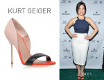 America Ferrera's Kurt Geiger London 'Bank' Leather Pumps