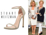 Amy Poehler's Stuart Weitzman 'Nudist' Ankle-Strap Sandals